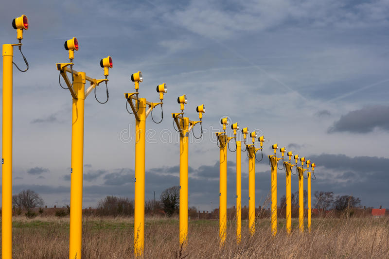 Download Airport Approach Landing Lights Stock Image - Image: 23914673