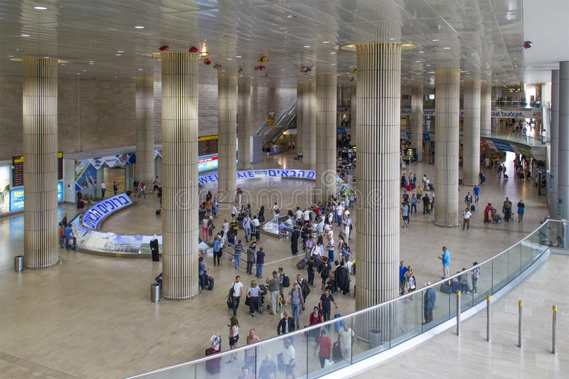 Ben Gurion Airport Arrival Hall Israel Editorial Photo Image of