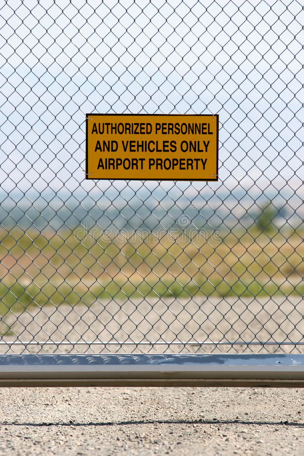 Download Airport - Authorized Personnel Only Stock Photo - Image of security, risk: 219744