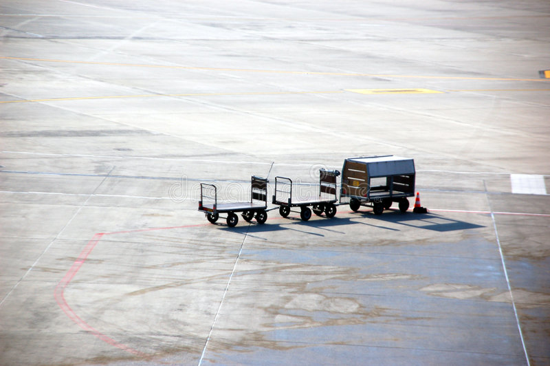 Download Airport baggage carrier stock image. Image of travel, departure - 4402315