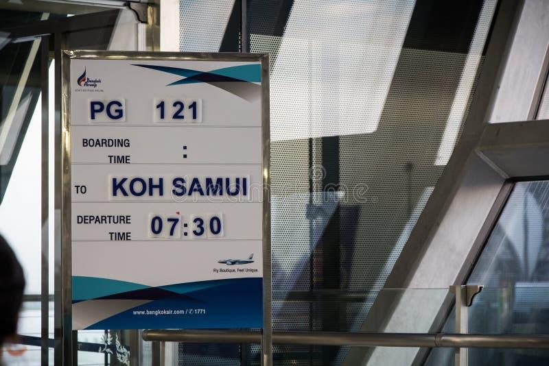 Airport of Bangkok. Waiting for flight to Samui royalty free stock photos