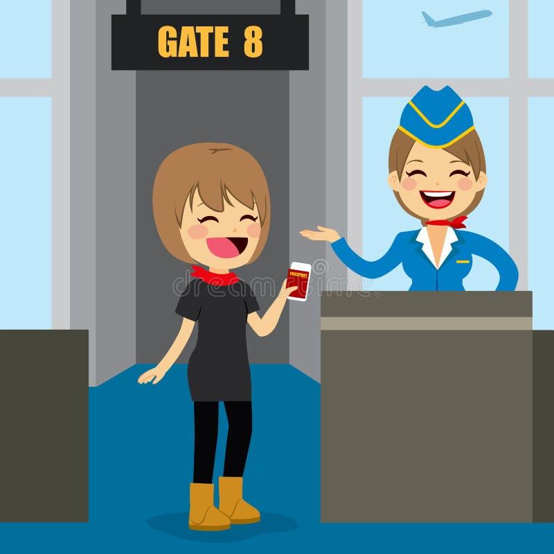 Download Airport Boarding Gate Stock Vector Illustration Of Transportation