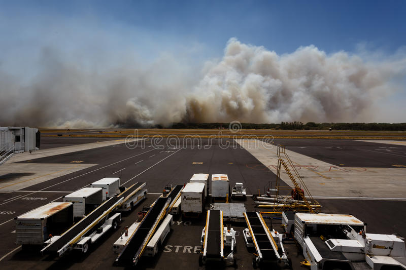 Download Airport Brush Fire In El Salvadore, Central America Editorial Image - Image: 32094510