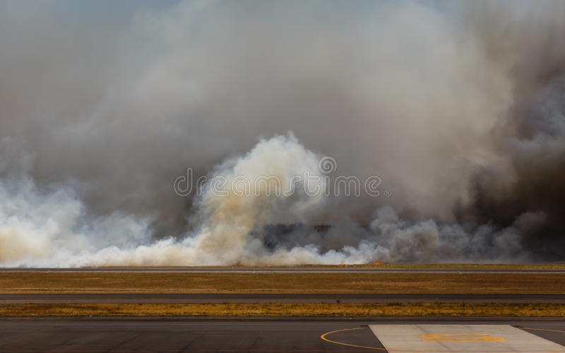 Download Airport Brush Fire In El Salvadore, Central America Stock Image - Image: 32094477