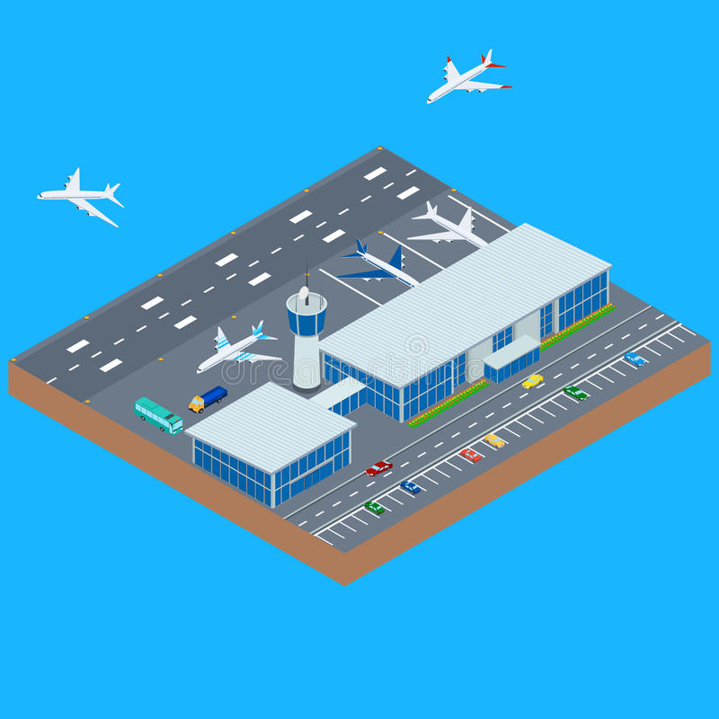 The airport building stock illustration