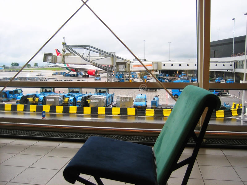 Airport chair stock images