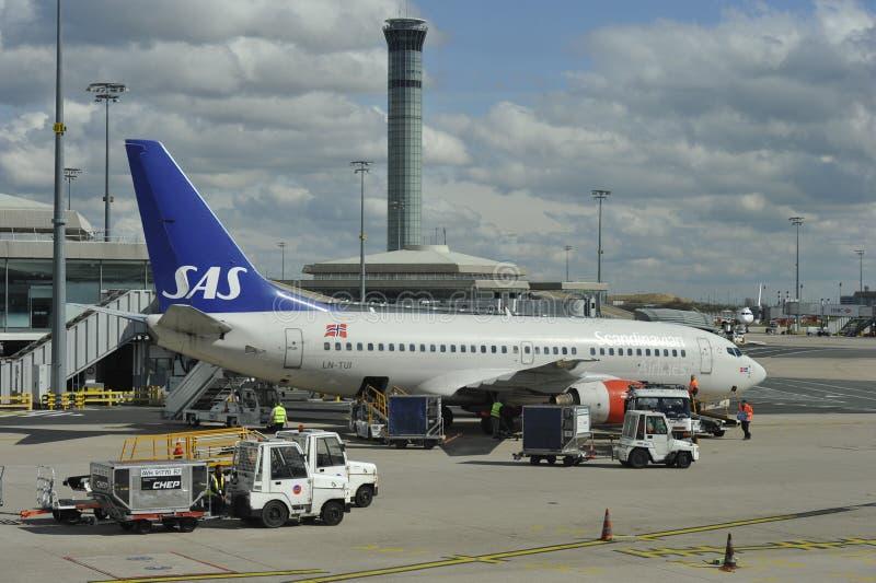 Airport Charles de Gaulle near Paris, France stock photography