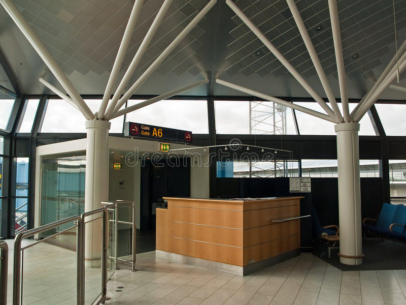Download Airport Check-in Counter Gate Stock Photo - Image: 9127434