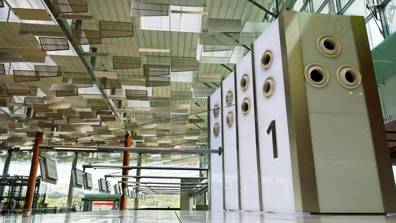 Download Airport Check-in Counter Row 1 Stock Image - Image: 11852733