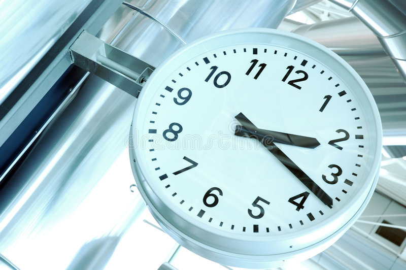 Airport Clock stock photo
