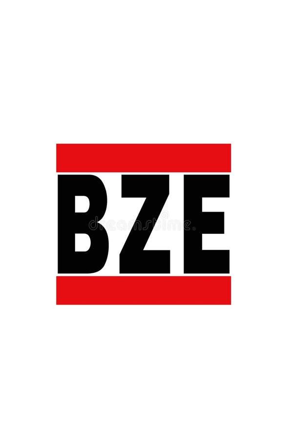 Belize City, Belize. Airport code for Belize City, Belize royalty free illustration