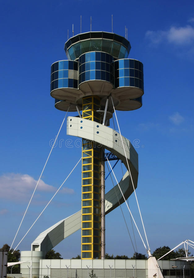 Airport control tower royalty free stock photography