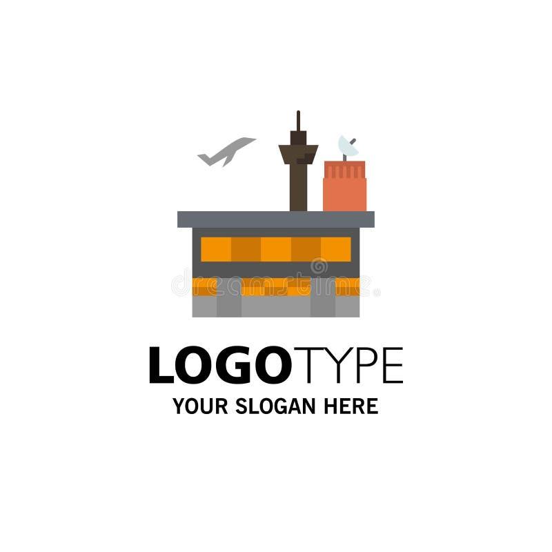 Airport, Conveyance, Shipping, Transit, Transport, Transportation Business Logo Template. Flat Color vector illustration