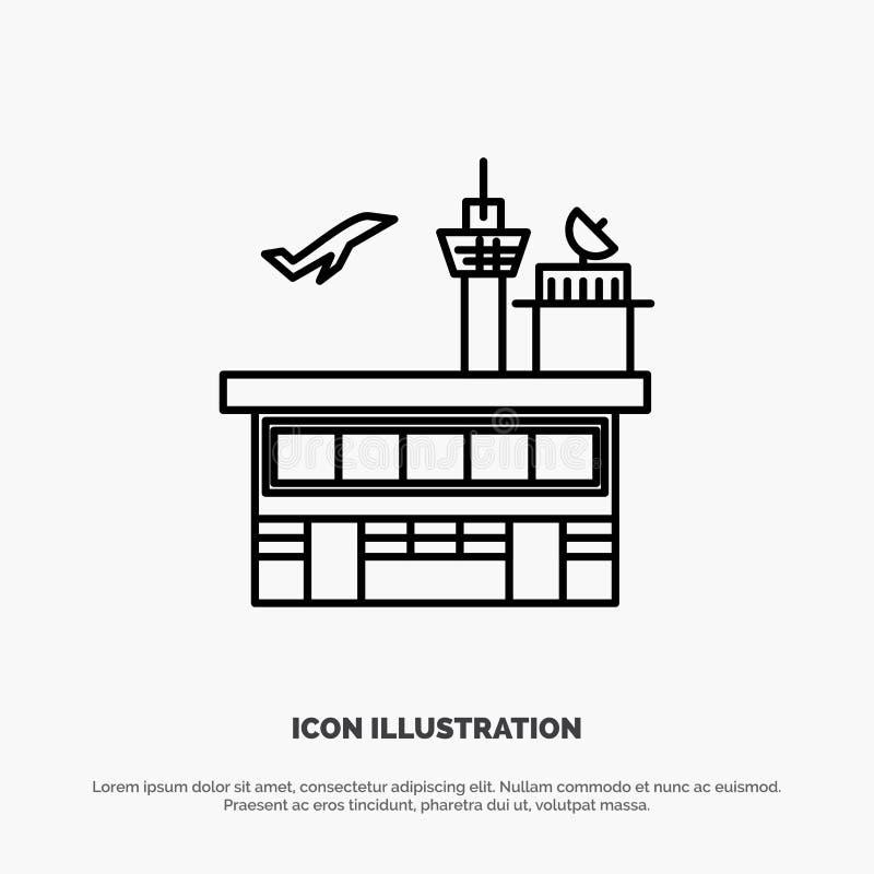 Airport, Conveyance, Shipping, Transit, Transport, Transportation Line Icon Vector stock illustration