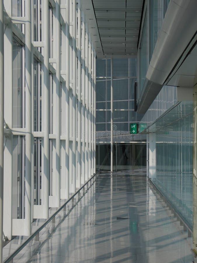Airport corridor stock photos