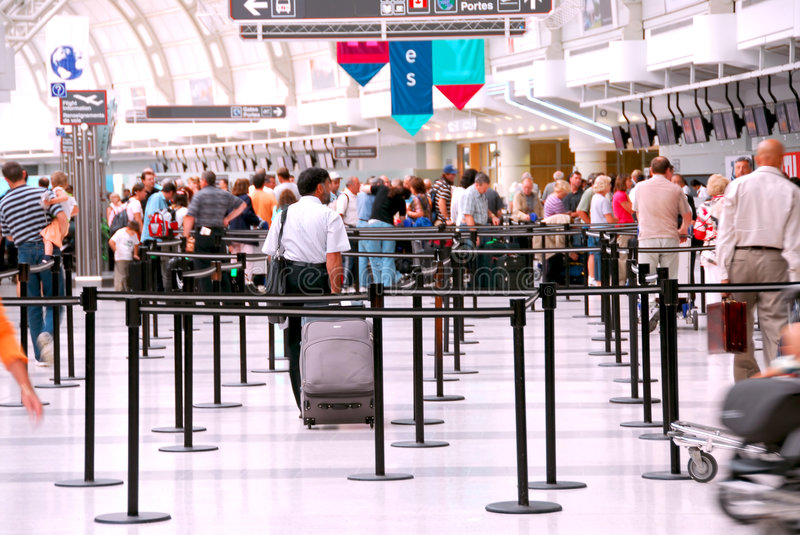 Airport crowd royalty free stock photos