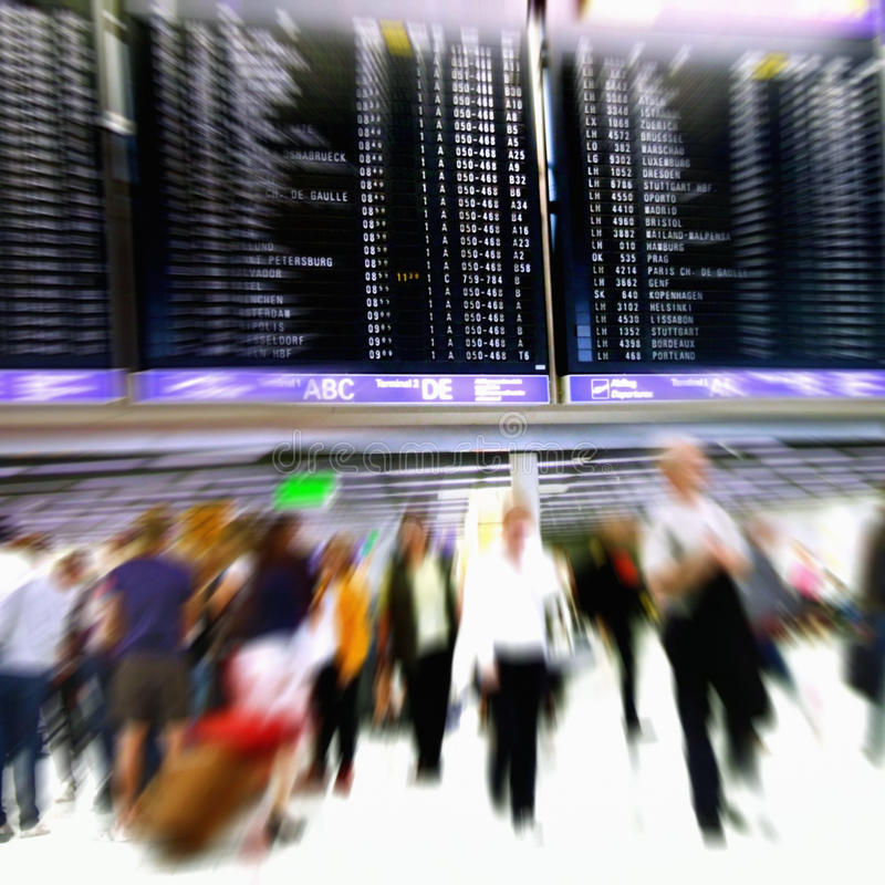 Airport Crowd royalty free stock images