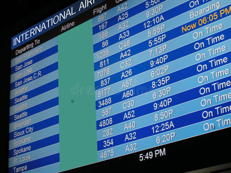 Download Airport Departure Board stock photo. Image of date, international - 5047780