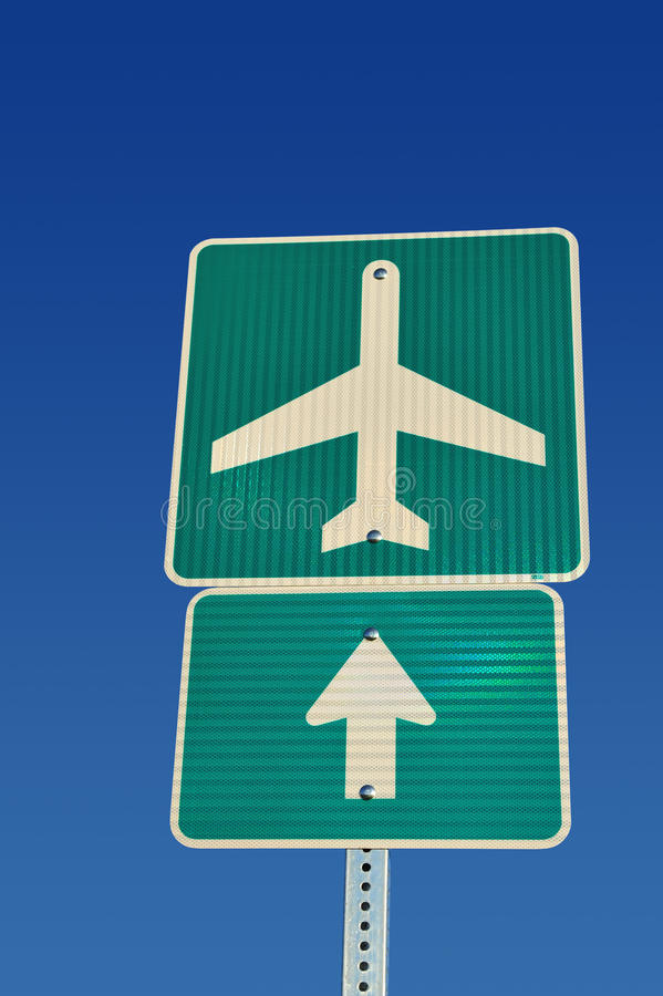 Airport Direction Royalty Free Stock Image
