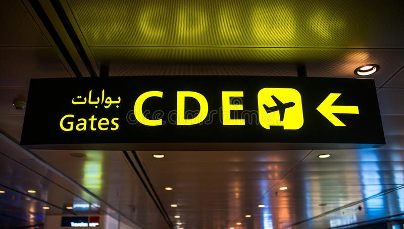 Airport doha international terminal travel passenger. Airport doha qatar international terminal travel interior modern and passenger in Departure hall stock photos