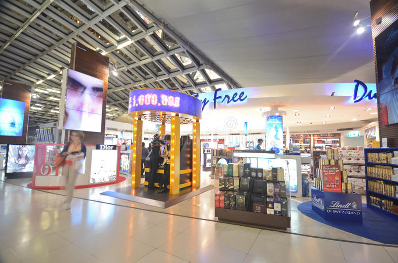 Airport duty free royalty free stock image