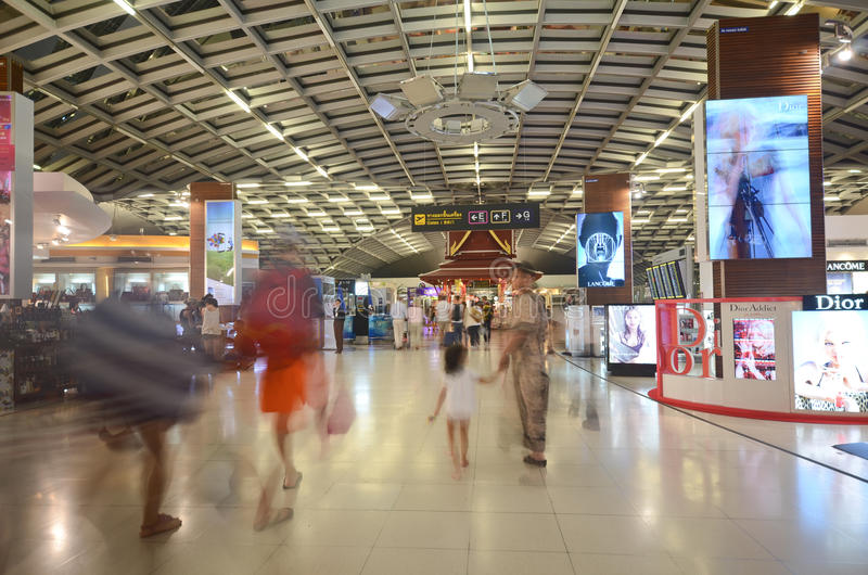 Airport duty free stock image