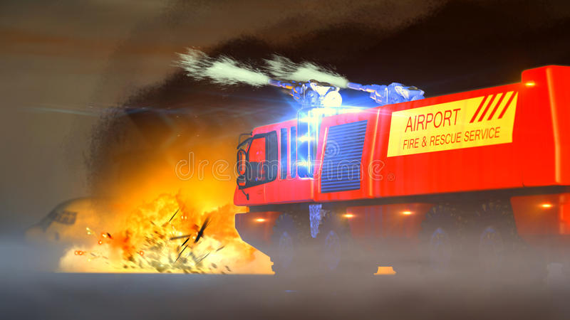 Download Airport Fire & Rescue Service Stock Illustration - Illustration: 31168905