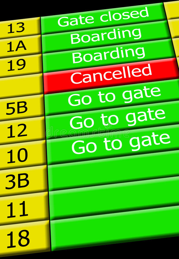 Download Airport Flight Info Display Stock Illustration - Illustration of information, departure: 13909684