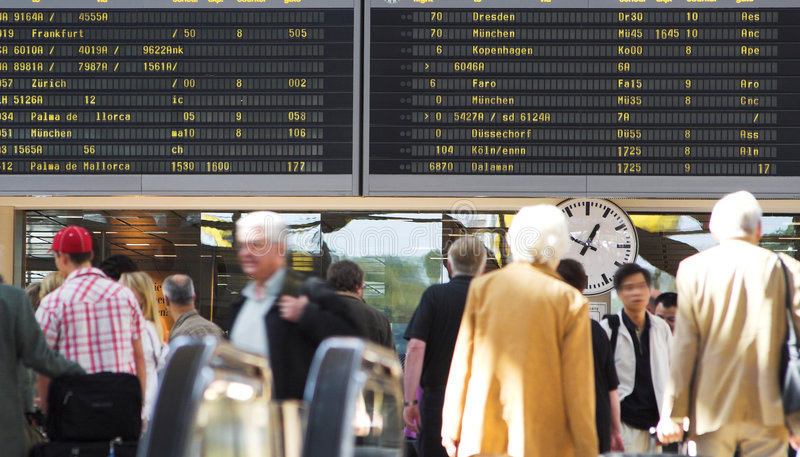 Airport flight schedule royalty free stock photo