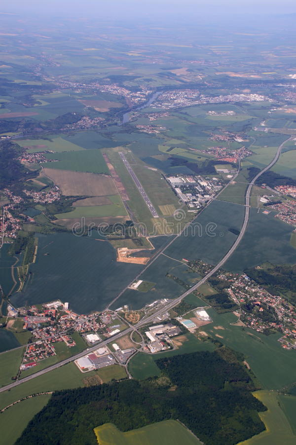 Free Airport From The Top Royalty Free Stock Photo - 46721365