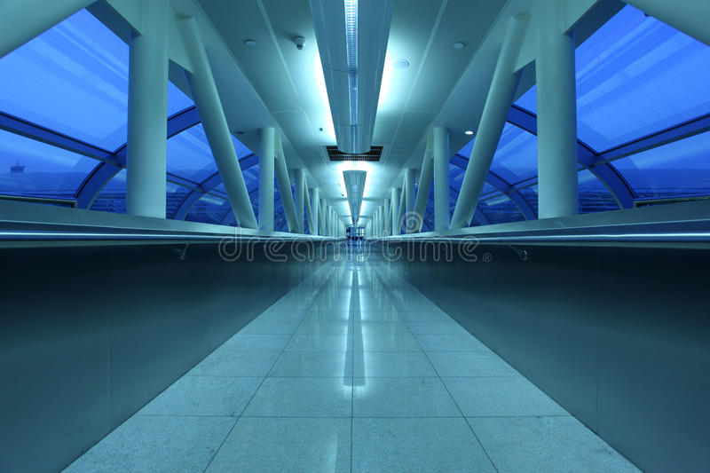 Airport gangway in Dubai royalty free stock photography