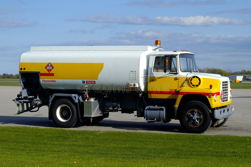 Airport Gas Truck w/Paths royalty free stock image