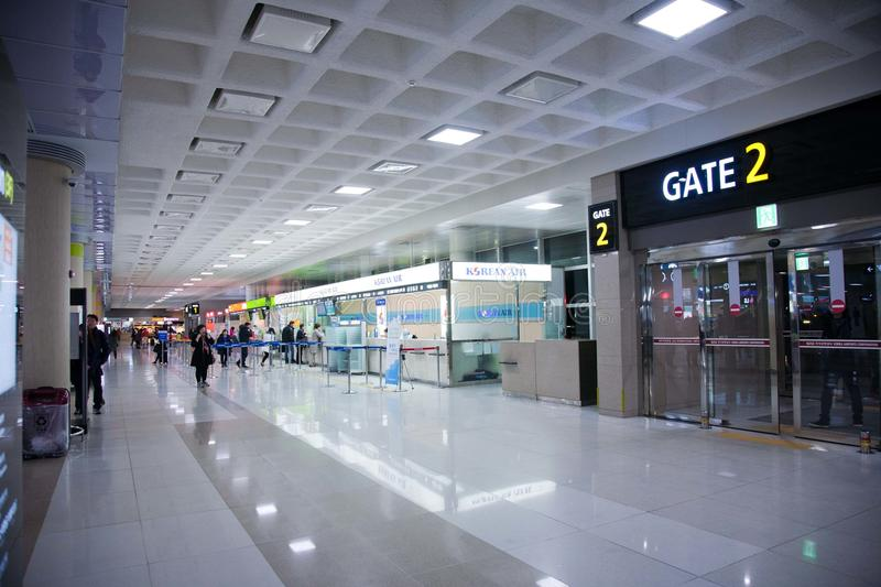 """Airport, GIMPO gate â""""–2 , South Korea. View on the airport, in GIMPO, South Korea stock photo"""