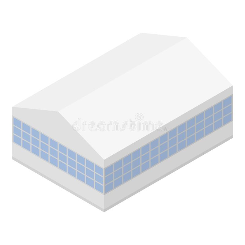 Airport hangar icon, isometric style. Airport hangar icon. Isometric of airport hangar vector icon for web design isolated on white background vector illustration