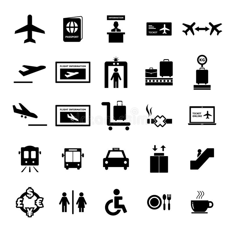 Download Airport Icon stock illustration. Image of international - 35599090