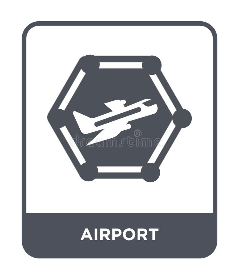 Airport icon in trendy design style. airport icon isolated on white background. airport vector icon simple and modern flat symbol. For web site, mobile, logo vector illustration