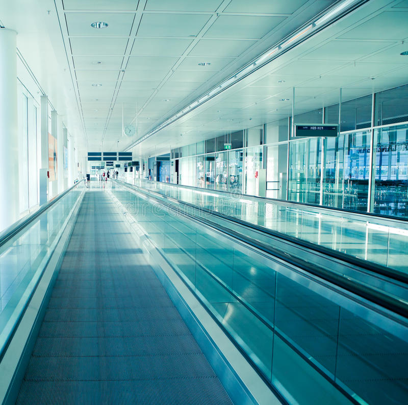 Download Airport interior stock photo. Image of staircase, nobody - 19559080