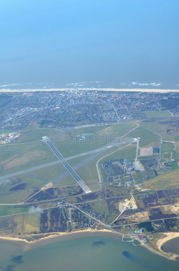 Airport on the island Sylt stock photos
