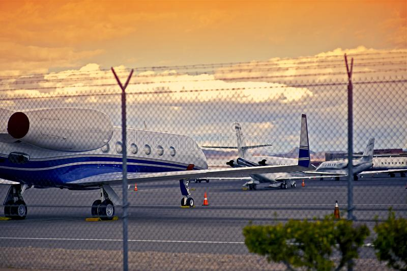 Airport with Jet Planes royalty free stock photos