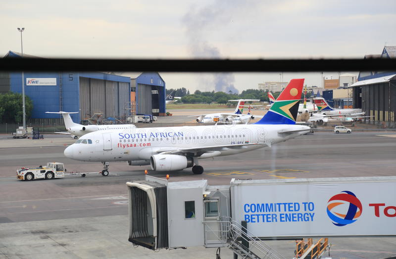 Airport of Johannesburg, South Africa royalty free stock photos