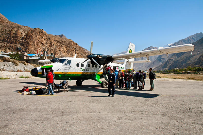 Airport Jomsom, Nepal royalty free stock images