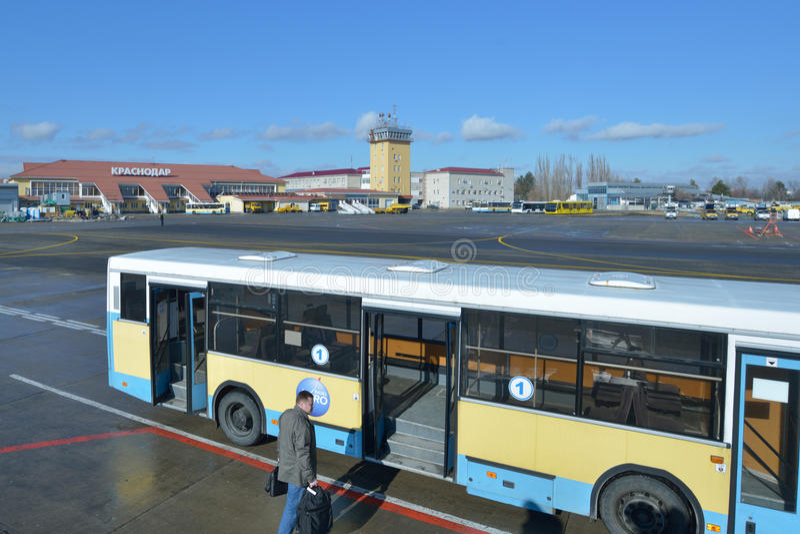 Airport of Krasnodar, Russia royalty free stock image