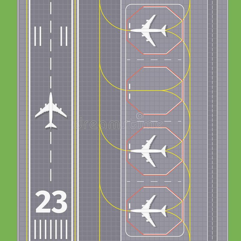 Airport landing airstrips vector vector illustration