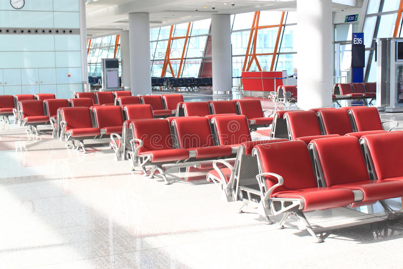 Airport Lounge Waiting Area. Airport Lounge, waiting area before boarding stock photo