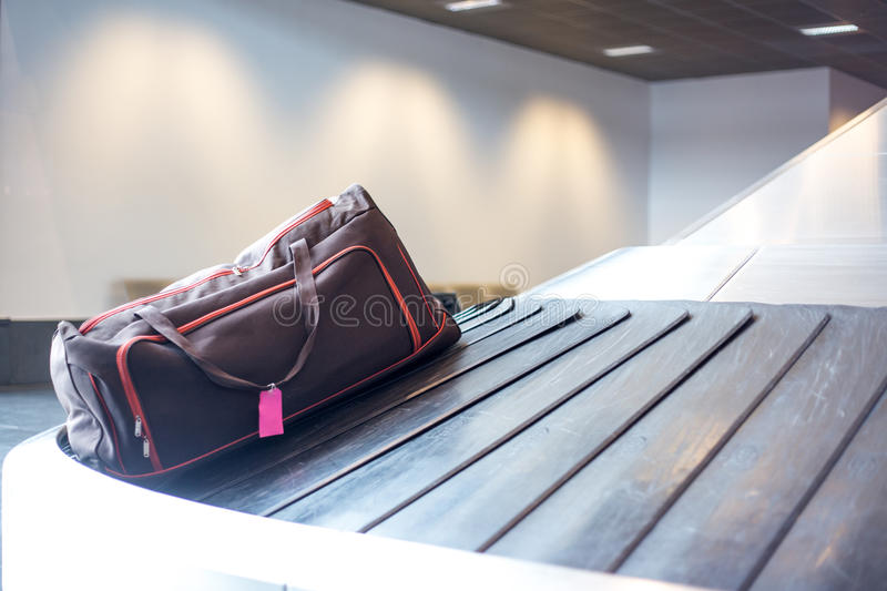 Airport luggage claim stock images