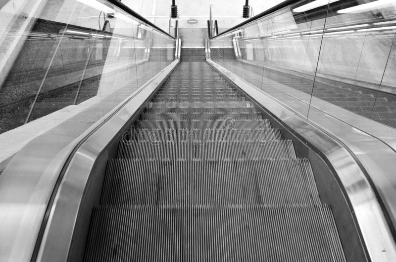 Airport Lyon. Modern Architecture: Long Passage Way at Train Station at Saint-Exupery Airport, Lyon, France. Photo taken: 20th April 2015 royalty free stock photography