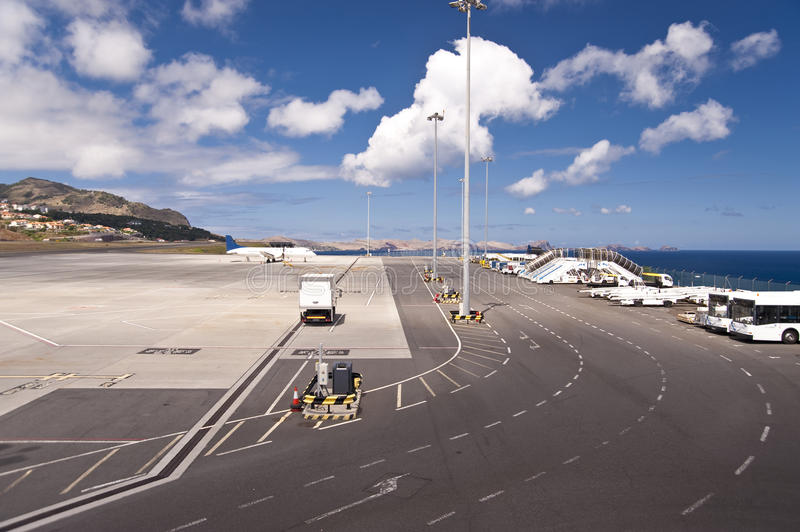 Airport on Madeira royalty free stock photography