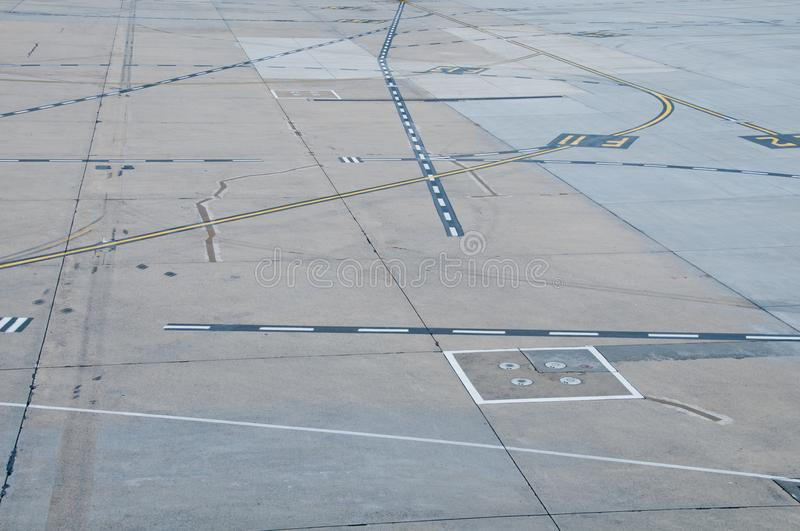 Airport parking bay landing site stock image