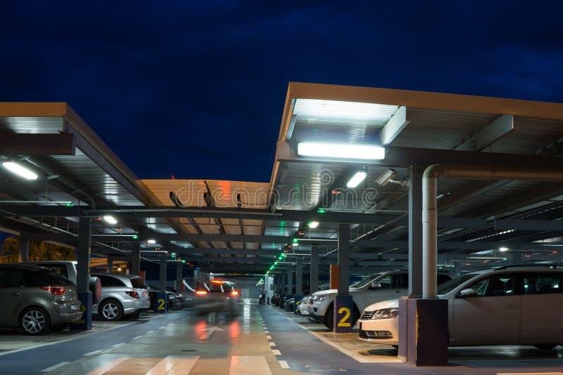 Airport Parking Garage royalty free stock photos