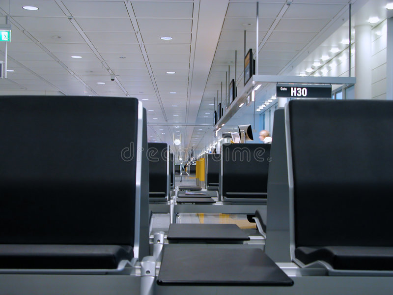 Airport Perspective Royalty Free Stock Photos